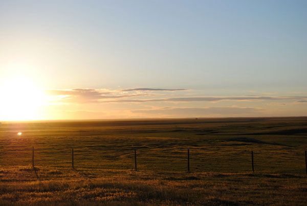 Sunset, Gould Ranch Cattle Company